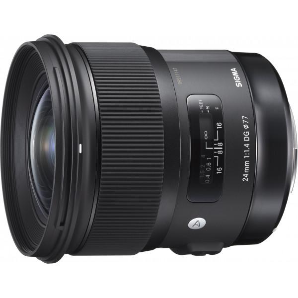 Sigma 24 mm F1,4 DG HSM Objektiv (77 mm Filtergewinde) für Canon Objektivbajonett-37