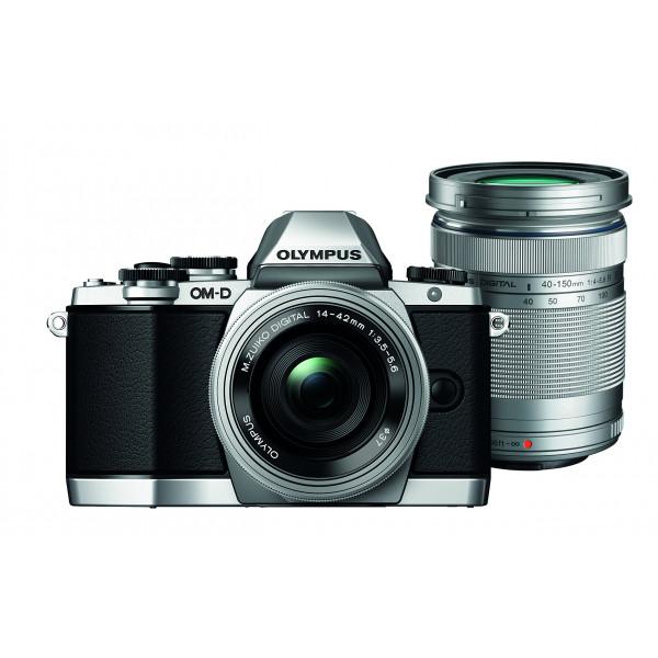 Olympus OM-D E-M10 kompakte Systemkamera inkl. 14-42 mm Pancake Objektiv und 40-150 mm Objektiv (16,1 Megapixel, 7,6 cm (3 Zoll) Display, WLAN, HDMI, USB 2.0) silber-31