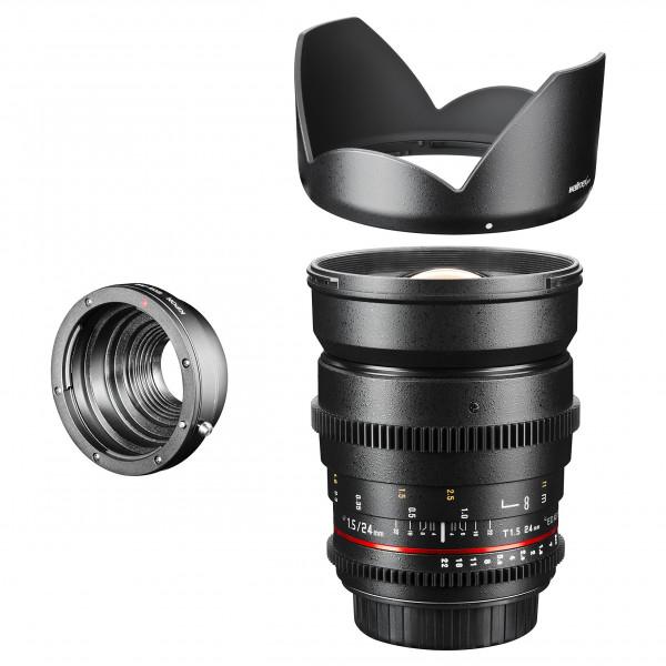 Walimex Pro 24 mm 1:1,5 VCSC Foto und Videoobjektiv (inkl. Filtergewinde 77mm, Gegenlichtblende, Zahnkranz, stufenlose Blende und Fokus) für Pentax Q Objektivbajonett schwarz-36