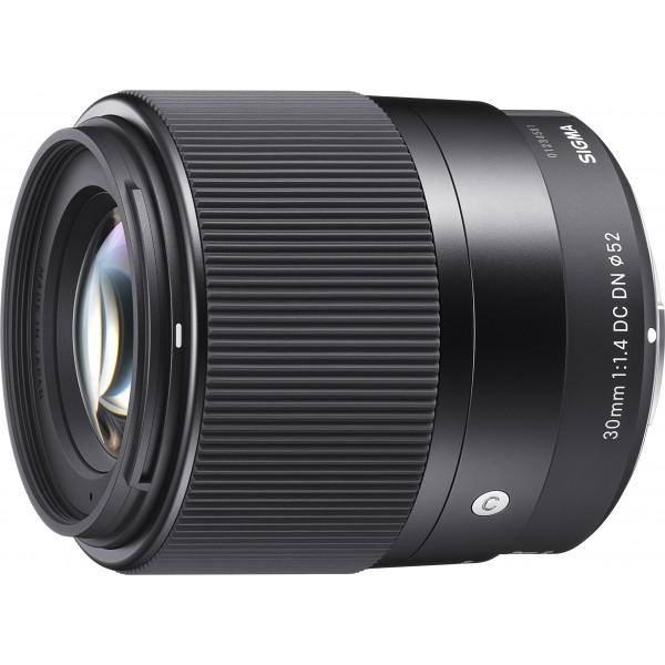 Sigma 30mm F1,4 DC DN Objektiv (Filtergewinde 52mm) für Sony-E Objektivbajonett-38