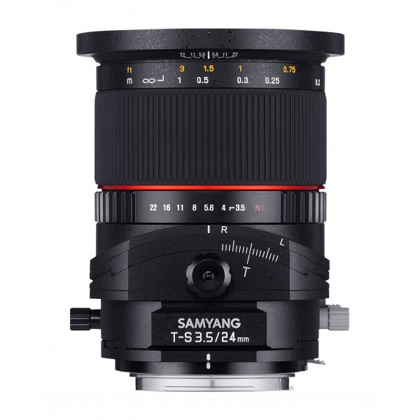 Samyang 24mm F3.5 T/S Objektiv für Anschluss Nikon AE-36