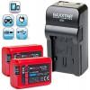 Baxxtar RAZER 600 II Ladegerät 5 in 1 + 2x Baxxtar PRO ENERGY Akku für Sony NP-FW50 (echte 1080mAh) passend zu Sony ILCE QX1 Alpha 5000 5100 6000 6300 Alpha 7 und 7 II 7S CyberShot DSC RX10 -- Sony NEX-6 NEX-F3 NEX-7 NEX-7B NEX-7C NEX-7K NEX-3 NEX-3N NEX-