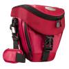 Mantona Colt Kameratasche (Universaltasche inkl. Schnellzugriff, Staubschutz, Tragegurt und Zubehörfach, geeignet für DSLR- und Systemkameras) rot