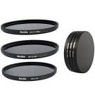 Haida Neutral Graufilter Set für Sony NEX bestehend aus ND8x, ND64x, ND1000x Filtern 49mm inkl. Stack Cap Filtercontainer + Pro Lens Cap mit Innengriff-20