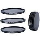 Slim Neutral Graufilter Set 49mm für Sony NEX bestehend aus ND8, ND64, ND1000 Filtern 49mm inkl. Stack Cap Filtercontainer + Pro Lens Cap mit Innengriff-20