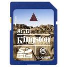 Kingston SD (SDHC) Secure Digital 8GB Class 6-20