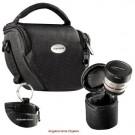 MANTONA VARIO DUO schwarz kompakte System Kameratasche mit Schultergurt und separatem OBJEKTIVKÖCHER-20