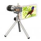 12X Kamera-Objektiv-Set mit Mini Stativ, Hizek Optisches Zoomobjektiv Handy Linse Smartphone Weitwinkel Teleobjektiv Set für iPhone, Samsung Galaxy Note, Sony, Nexus, HTC-20