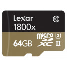 Lexar Professional 1800x microSDXC 64GB UHS-II W/USB 3.0 Reader Flash Memory Card LSDMI64GCRBEU1800R-20