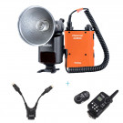 GODOX Witstro AD-360 360W GN80 Externe Tragbare Blitzlicht Speedlite mit PB960 Lithium-Akku-Kit f¨¹r Canon Nikon Kamera mit Godox DB-02 Kabel Y-Adapter und Godox FT-16 Wireless Power Controller-20