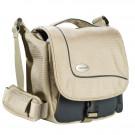 Mantona SportsBag SLR-Kameratasche sand (sportlich kompakte Umhängetasche) für Bridge Kameras und Micro SLR-20