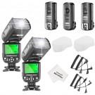 Neewer® NW-561 LCD Bildshirm Belitzgerät Speedlite Set für Canon Nikon und andere DSLR Kameras, Beinhaltet: 2x NW-561 Blitzgerät + 1x 2.4Ghz kabellose Trigger (1x Transmittel + 2x Empfänger) + 1x Mikrofaser Reinigungstuch-20