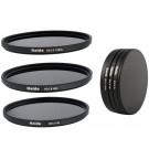 Neutral Graufilter Set bestehend aus ND8, ND64, ND1000 Filtern 55mm inkl. Stack Cap Filtercontainer + Pro Lens Cap mit Innengriff-20