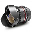 Walimex Pro 8 mm 1:3,8 VDSLR Fish-Eye II Objektiv Foto und Video (abnehmbare Gegenlichtblende, IF, Zahnkranz, stufenlose Blende und Fokus) für Canon EF-S Objektivbajonett schwarz-20