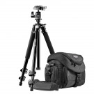 Mantona Premium Scout 2in1 Set inkl. Fototasche Premium und Kamerastativ Scout für DSLR und Systemkameras-20