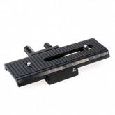 Quenox/Fotomate LP-01 Makro/Stereo-Einstellschlitten (Makroschlitten, Kameraschlitten, Fotoschlitten, Makroschiene, Stereoschlitten) für kleine DSLRs, Systemkameras und Kompaktkameras - Verstellweg 10cm