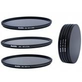 Slim Neutral Graufilter Set 49mm für Sony NEX - bestehend aus ND8, ND64, ND1000 Filtern 49mm inkl. Stack Cap Filtercontainer + Pro Lens Cap mit Innengriff