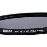 Slim Graufilter PRO II MC (mehrschichtvergütet) ND1000 82mm. Schlanke Fassung + Cap mit Innengriff