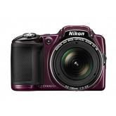 Nikon Coolpix L830 Digitalkamera (16 Megapixel, 34-fach opt. Zoom, 7,6 cm (3 Zoll) RGBW-LCD-Display, bildstabilisiert, Dynamic-Fine-Zoom, Full-HD) aubergine