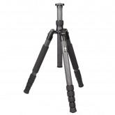 SIRUI T-1205X Traveler Reise-Dreibeinstativ (Carbon, Höhe: 130,2cm, Gewicht: 0,9kg, Belastbarkeit: 10kg) mit Tasche und Gurt