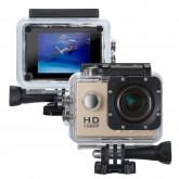 icefox® FHD Unterwasser-Action-Kamera, 12MP, 1080P, wasserdichte HD-Kamera mit 170° Weitwinkel, 1,5 Zoll-Display, 900mAh Batterie und Zubehör-Kitt für zum Tauchen, zumFahrrad fahren, zum Motorrad fahren und zum Schwimmen (Golden)