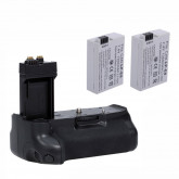 Neewer® Pro Batteriegriff Akkugriff Battery Grip für Canon EOS 550D 600D 650D 700D/ Rebel T2i T3i T4i T5i SLR Digitale Kameras, Set beinhaltet:1x BG-E8 Batterie Griff + 2x LP-E8 Li-Ion Akku