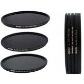 HAIDA Slim PRO II Digital MC Neutral Graufilter Set bestehend aus ND8, ND64, ND1000 Filtern 82mm inkl. Stack Cap Filtercontainer + Pro Lens Cap mit Innengriff