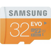 Samsung Speicherkarte MicroSDHC 32GB GB EVO UHS-I Grade 1 Class 10 für Smartphones und Tablets, mit SD Adapter, frustfrei