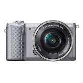 Sony Alpha 5000 Systemkamera (Full HD, 20 Megapixel, Exmor APS-C HD CMOS Sensor, 7,6 cm (3 Zoll) Schwenkdisplay) silber inkl. SEL-P1650 Objektiv