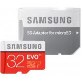 Samsung Speicherkarte MicroSDHC 32GB EVO Plus UHS-I Grade 1 Class 10 für Smartphones und Tablets, mit SD Adapter, frustfrei