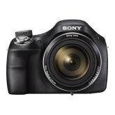 Sony DSC-H400 Einstiegsbridge Kompaktkamera (20,1 Megapixel, 63-fach opt. Zoom, 7,5 cm (3 Zoll) LCD-Display, HD-Ready, 24,5 mm Weitwinkel-Objektiv, Optischer Bildstabilisator SteadyShot) schwarz