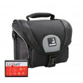 EOS Bundle Tasche für Canon 1100D 1200D 1300D +Qualitäts Ersatz-Akku Lizzium LP-E10 Fototasche