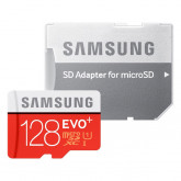 Samsung Speicherkarte MicroSDXC 128GB EVO Plus UHS-I Grade 1 Class 10 für Smartphones und Tablets, mit SD Adapter, frustfrei