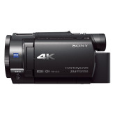 Sony FDR-AX33 4K Camcorder (Exmor R CMOS Sensor, Vario Sonnar T* Carl Zeiss Optik mit 10-fach optischem Zoom, 7,5 cm (3,0 Zoll) Touch-Display, ISO Norm MI Zubehör Schuh) schwarz