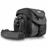 Mantona Premium DSLR-Kameratasche (inkl. Schnellzugriff, Staubschutz, gepolsteter Tragegurt und Zubehörfach) schwarz