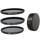HAIDA Neutral Graufilter Set 82mm bestehend aus ND8x, ND64x, ND1000x Filtern - inkl. Stack Cap Filtercontainer + Pro Lens Cap mit Innengriff