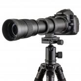 TOP-MAX® 420-800mm f/8.3-16 Super Tele Zoom Objektiv Teleobjektiv Zoomobjektiv Vario-Objektiv Lens für Canon EOS 1D, 5D, 6D, 7D, 10D, 20D, 30D, 40D, 50D, 60D, 100D, 300D, 350D, 400D, 450D, 500D, 550D, 600D, 700D, 1000D, 1100D, 1200D und mehr DSLR/SLR Kame