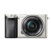 "Sony Alpha 6000 Systemkamera (24 Megapixel, 7,6 cm (3"") LCD-Display, Exmor APS-C Sensor, Full-HD, High Speed Hybrid AF) inkl. SEL-P1650 Objektiv silber"