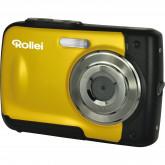 Rollei Sportsline 60 Digitalkamera (5 Megapixel, 8-fach digitaler Zoom, 6 cm (2,4 Zoll) Display, bildstabilisiert, bis 3m wasserdicht) gelb