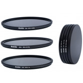 Slim Neutral Graufilter Set bestehend aus ND8, ND64, ND1000 Filtern 62mm inkl. Stack Cap Filtercontainer + Pro Lens Cap mit Innengriff
