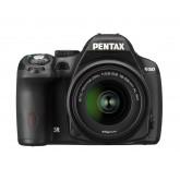 Pentax K 50 SLR-Digitalkamera (16 Megapixel, APS-C CMOS Sensor, 1080p, Full HD, 7,6 cm (3 Zoll) Display, Bildstabilisator) schwarz inkl. Objektiv DA L 18-55 mm WR