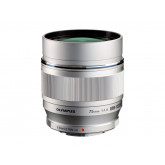 Olympus M.Zuiko Digital ED 75 mm 1:1:8 Objektiv für Micro Four Thirds Objektivbajonett (150 mm KB) silber