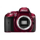 Nikon D5300 SLR-Digitalkamera (24,2 Megapixel, 8,1 cm (3,2 Zoll) LCD-Display, Full HD, HDMI, WiFi, GPS, AF-System mit 39 Messfeldern) nur Gehäuse rot