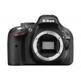 Nikon D5200 SLR-Digitalkamera (24,1 Megapixel, 7,6 cm (3 Zoll) TFT-Display, Full HD, HDMI) nur Gehäuse schwarz