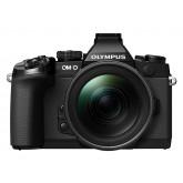 Olympus E-M1 OM-D Systemkamera (16 Megapixel, 7,6 cm (3 Zoll) TFT LCD-Display, Full HD, HDR, 5-Achsen Bildstabilisator) inkl. M.Zuiko Digital ED 12-40mm Top Pro Objekitv Kit schwarz