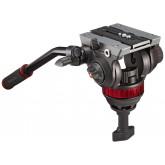 Manfrotto MVH502A Pro Fluid Video Neiger mit 75 mm Halbkugel und 504PL