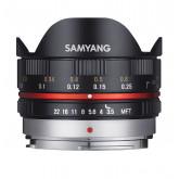 Samyang 7.5mm F3.5 UMC Fish-eye MFT für Micro Four Third, Schwarz