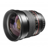Walimex Pro 85mm 1:1,4 DSLR-Objektiv (Filtergewinde 72mm, IF, AS und ED-Linsen) für Canon EF Objektivbajonett schwarz