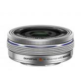 Olympus M.ZUIKO DIGITAL 14-42mm 1:3.5-5.6 EZ Objektiv (elektronik zoom) silber