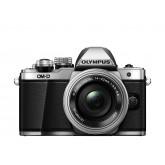 Olympus OM-D E-M10 Mark II Systemkamera (16 Megapixel, 5-Achsen VCM BildsTabilisator, elektronischer Sucher mit 2,36 Mio. OLED, Full-HD, WLAN, Metallgehäuse) Kit inkl. 14-42mm Objektiv silber